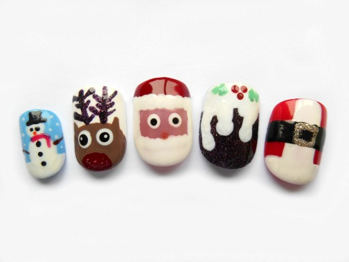 christmas nailart
