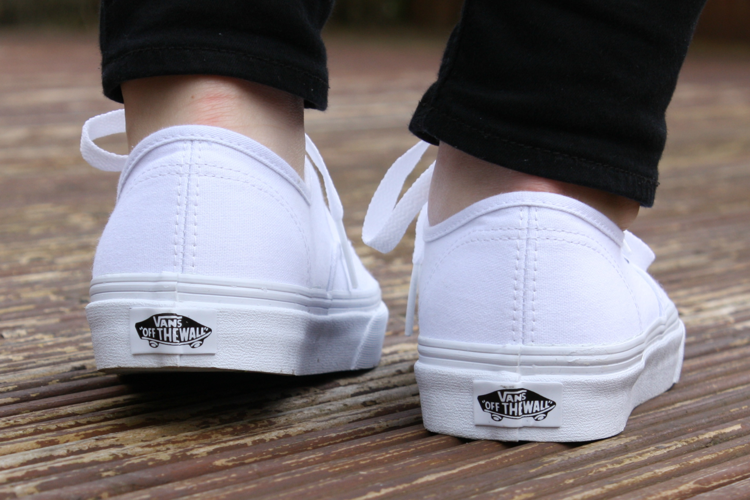 Buy vans authentic all white on feet 371fc6e4efcd