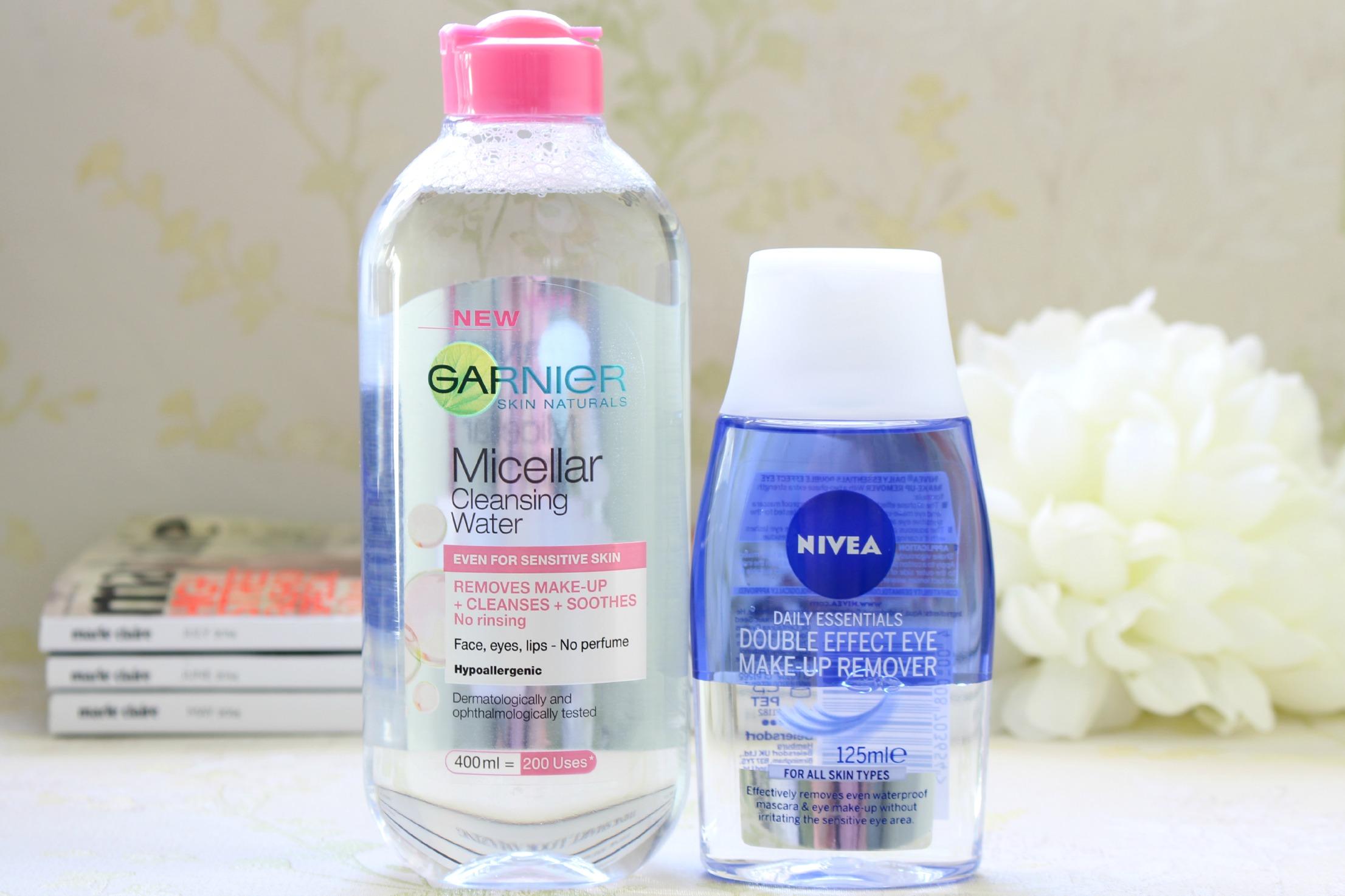 Garnier Micellar Water Nivea Double Effect Eye Makeup Remover