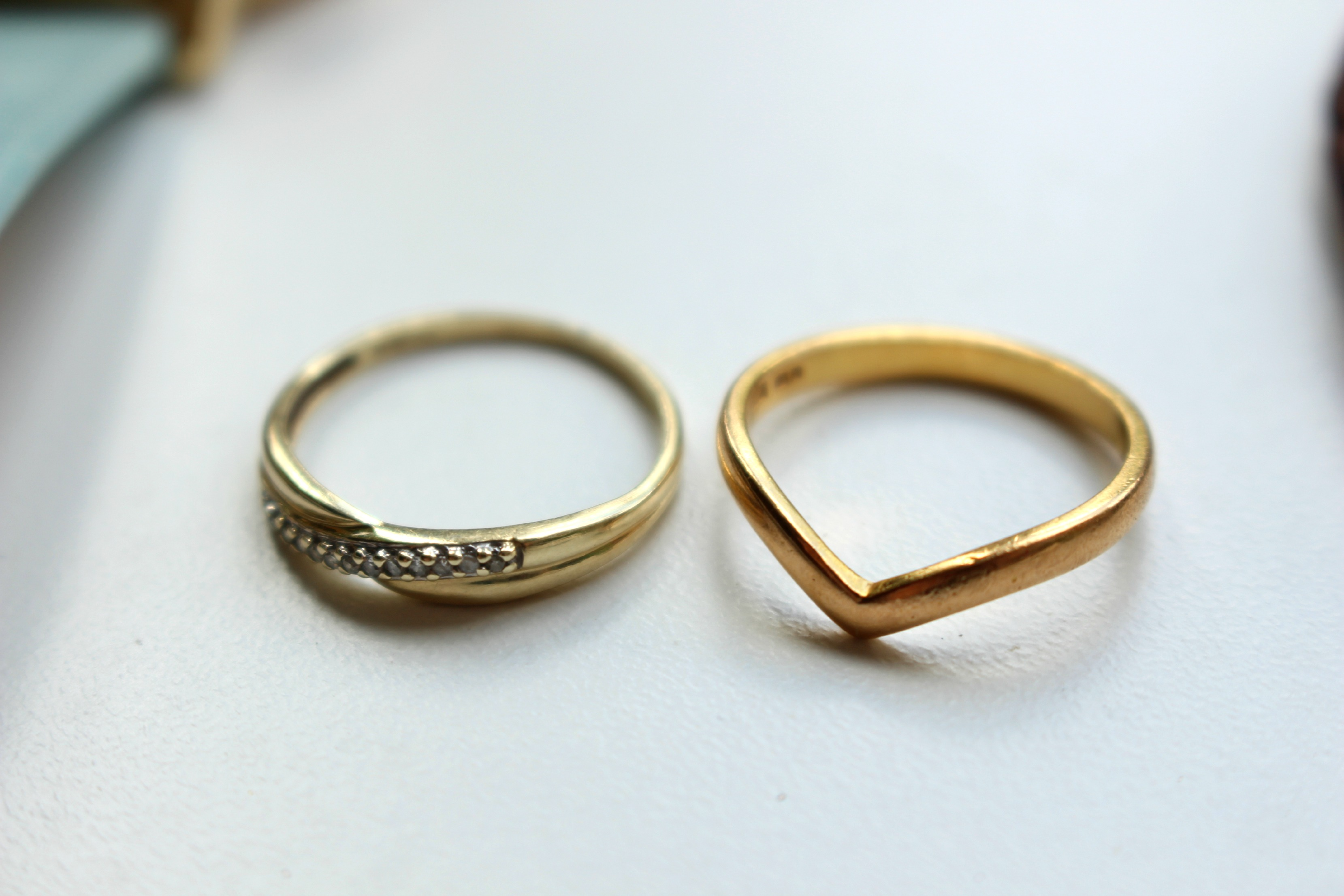 vrai ring rings dot rose products gold cuff everyday oro