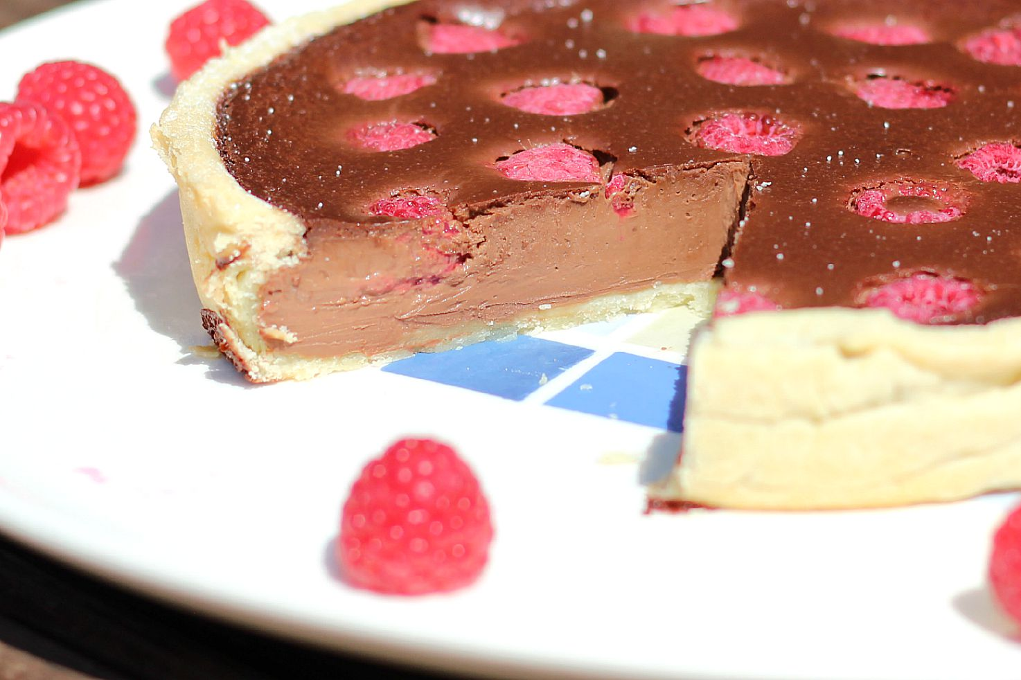 Rustic Chocolate Raspberry Tart Sarah Speaks